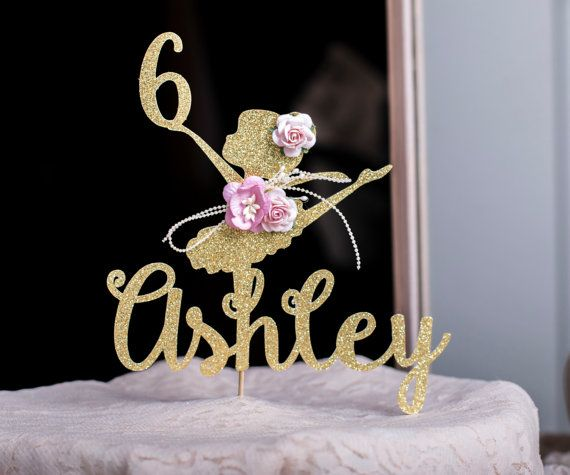 XOXOKristens Custom Ballerina Cake Topper will bring so much glitter and shine on top of your cake! Offered in Gold or Silver Glittered Paper, and
