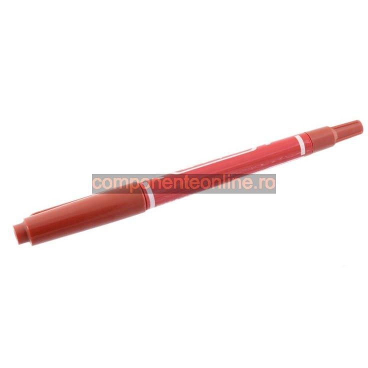 Carioca rosie, cu doua varfuri, varf 2mm, varf 0,7mm - 113435