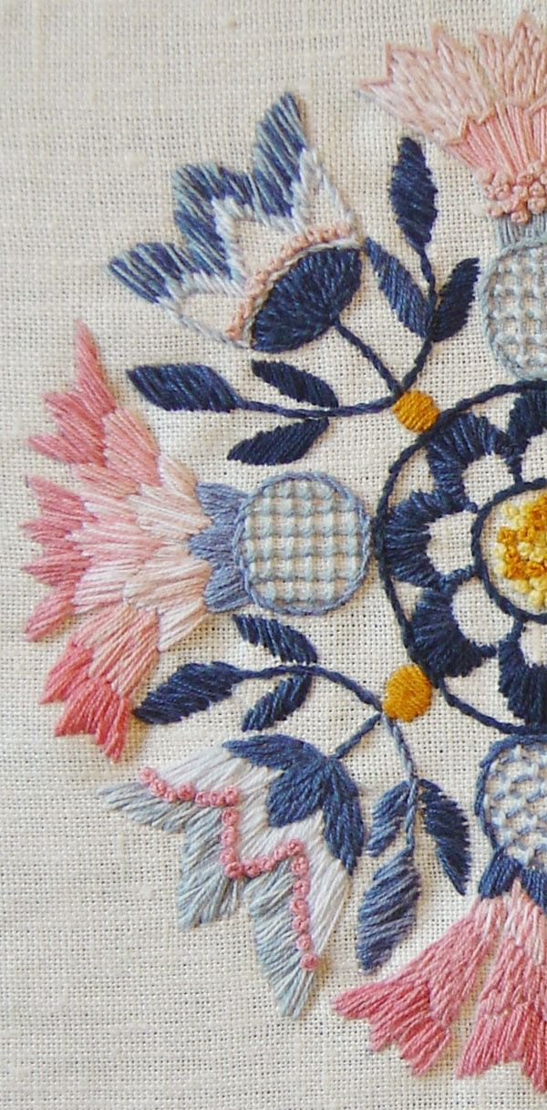 Learn How to Embroider Like a Pro. Look At The Beautiful Stitchery!! jwt