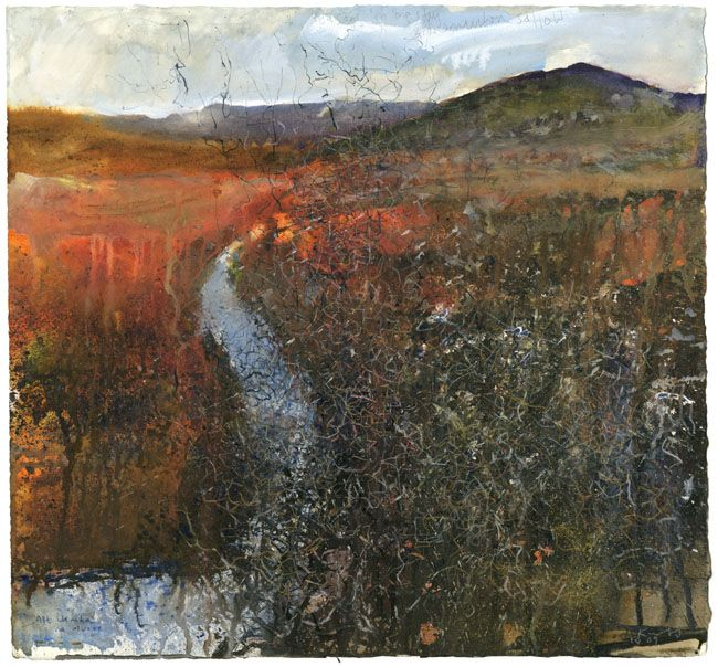 Four seasons in one day, Ardnamurchan sallow. April 2009 mixed media 57x61cm