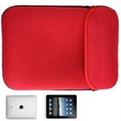 9.7  inch Soft Protective Sleeve Cover Neoprene Inner Bag Case for Apple ipad 3 ipad 2 Tablet Laptop Netbook Red