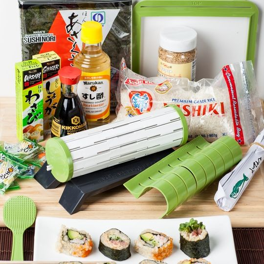 Are YOU ready to have fun making sushi at home! Introducing the World's #1 Sushi Kit! SushiQuik! Designing and building the best Sushi Roller wasn't enough, we also wanted to combine it with all the best ingredients needed to make sushi. The Kit also includes a complete SushiQuik ebook with over 25 sushi recipes …