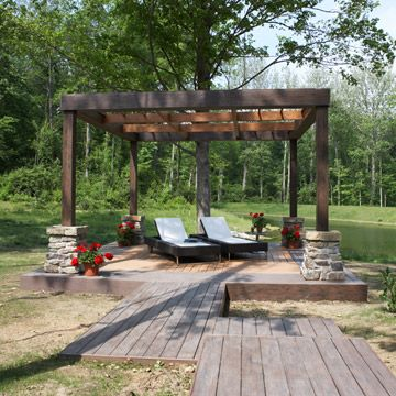 58 best project floating deck images on pinterest for Pergola bioclimatique corse