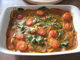 Curry van pastinaak, pompoen en spinazie