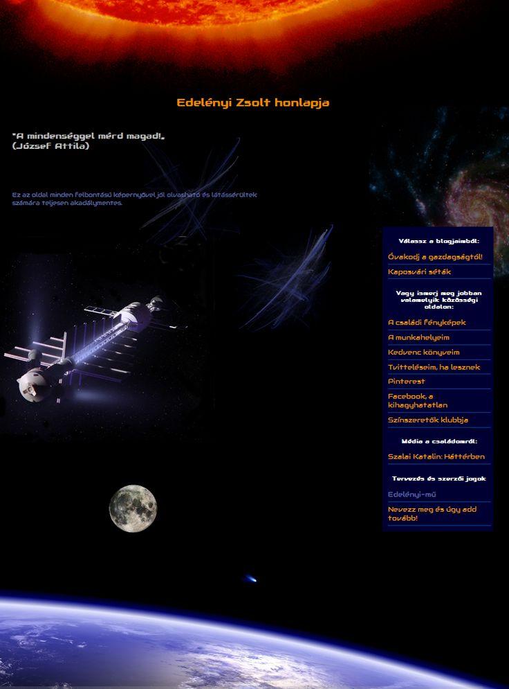A honlapom első változata (2013. jan-jún.)