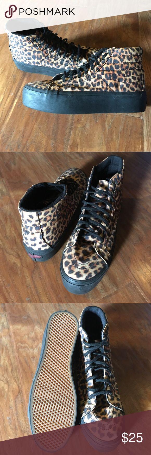 vans leopard print baby shoes