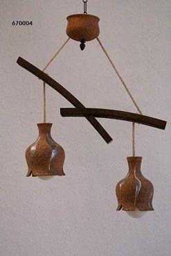 63 best lamparas rusticas images on pinterest lights ceramic art and ceramic pottery - Lamparas de techo originales ...