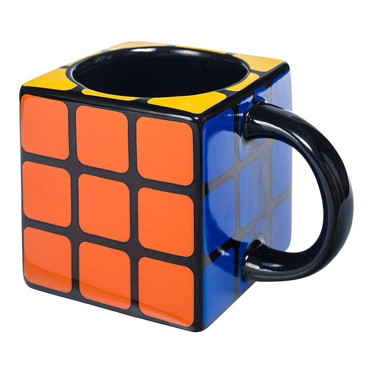 Rubik's Cube 3D Mug (Multicoloured)