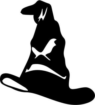 Vinyl Decal Sticker - Sorting Hat Harry Potter decal for Windows, Cars, Laptops, Macbook, Yeti, Coolers, Mugs etc