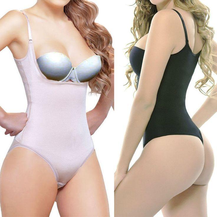 US Women Full Body Shaper Waist Cincher Underbust Thong Corset Bodysuit Jumpsuit #unbranded #BodySuits