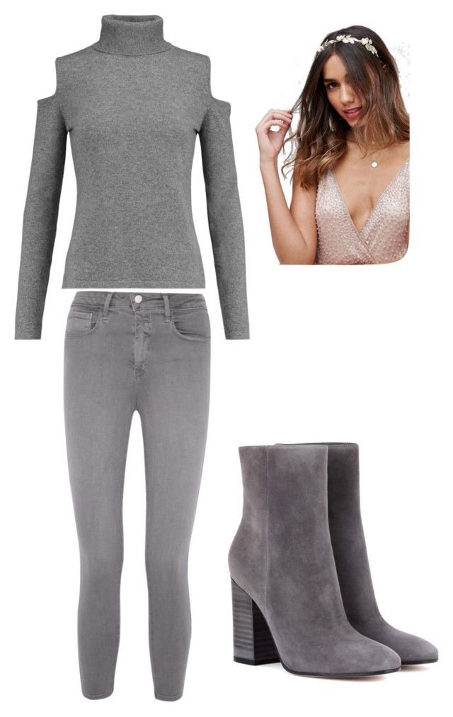 """""""Grey"""" by niko-arce-olate on Polyvore featuring moda, L'Agence, N.Peal, Gianvito Rossi y ASOS"""