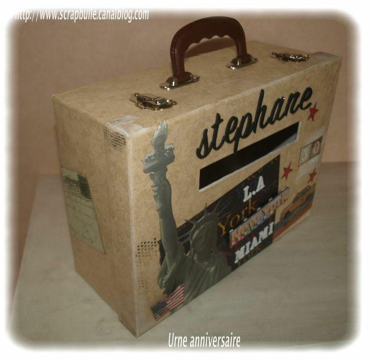 Urne pour un anniversaire - Scrapbulle - créations et ateliers scrapbooking