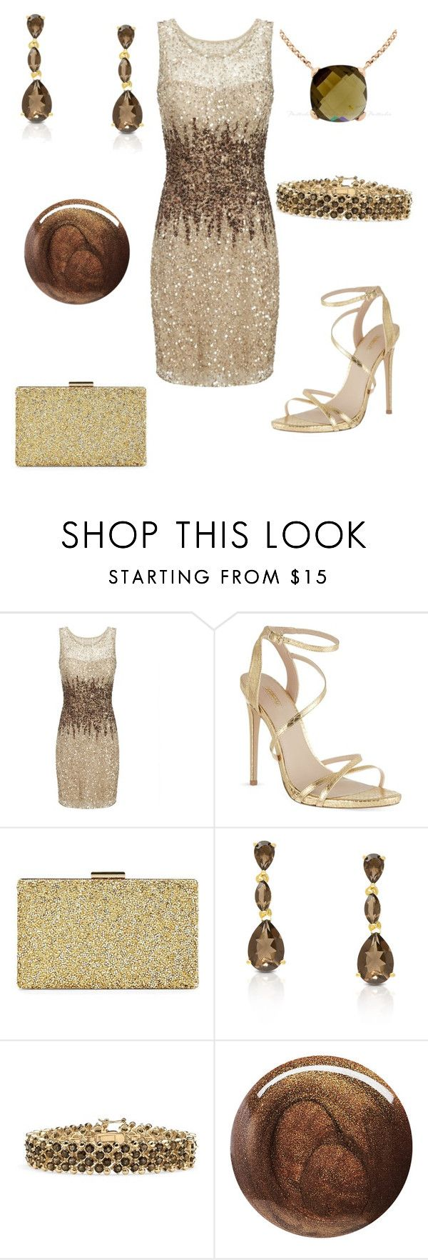 """Cocktail Hour Outfit 64 - Brandi"" by office-girl ❤ liked on Polyvore featuring Adrianna Papell, Carvela, Sasha, Dolce Giavonna, Palm Beach Jewelry, Butter London, women's clothing, women, female and woman"