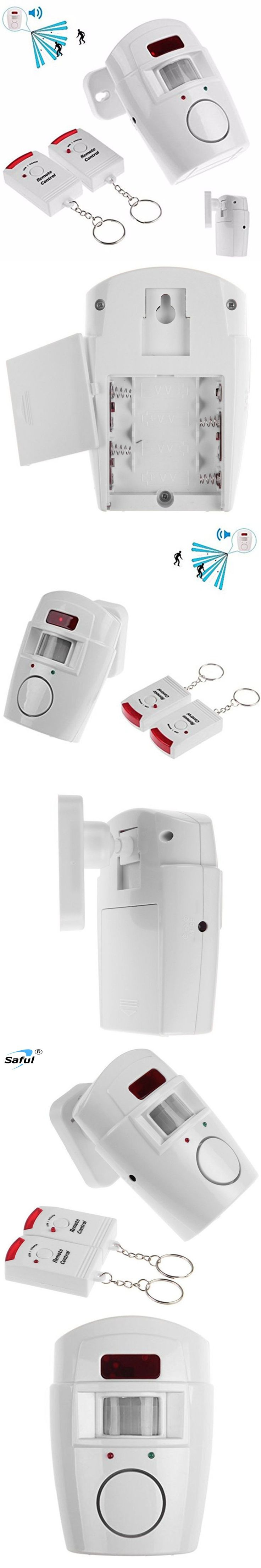 Home System IR Infrared Motion Sensor Alarm Security Detector 105dB Alarm Monitor Wireless Alarm system+2 remote controllers