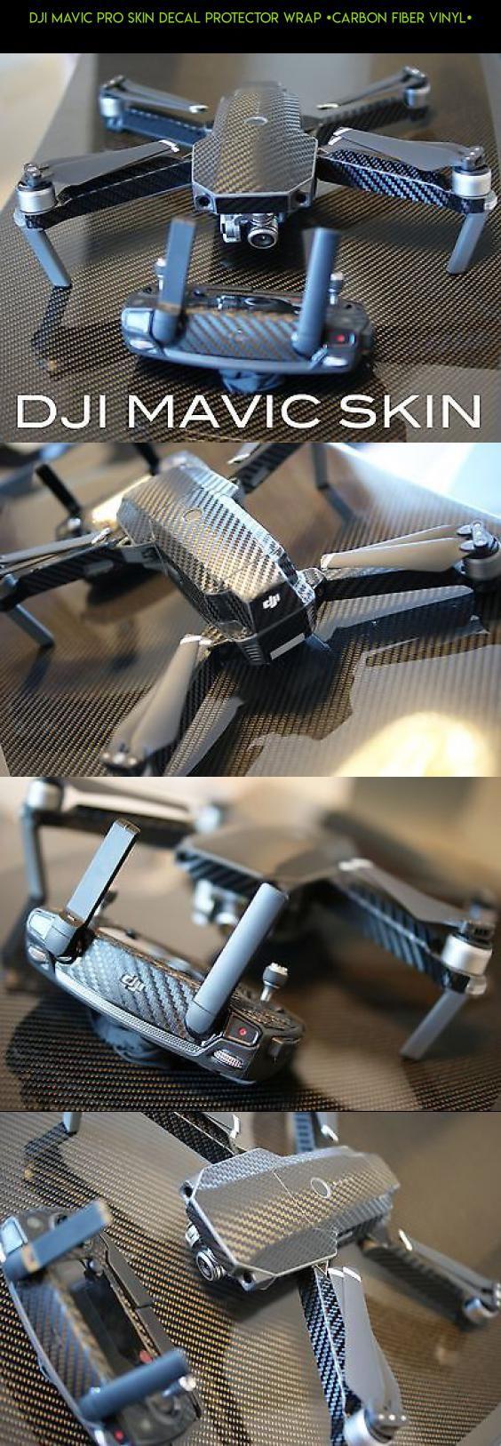 DJI Mavic Pro Skin decal protector wrap [Carbon Fiber Vinyl] #shopping #tech #kit #vinyl #parts #fpv #drone #technology #camera #gadgets #mavic #plans #racing #products #pro