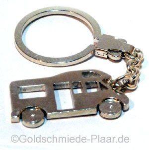 Schlüsselring Wohnmobil aus Silber in Handarbeit hergestellt. Eine schöne Geschenkidee für alle, die Wohnmobil-Besitzer kennen oder selbst eines besitzen.