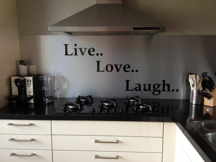 Rvs Achterwand Keuken : Rvs plaat achter kookplaat
