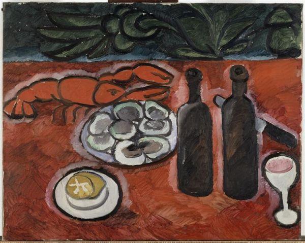 Natalia Goncharova (1881-1962) 'Still Life with Lobster', ca 1909-10