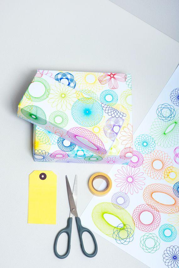 DIY Spirograph Gift Wrap // MiniEco: A Craft Book