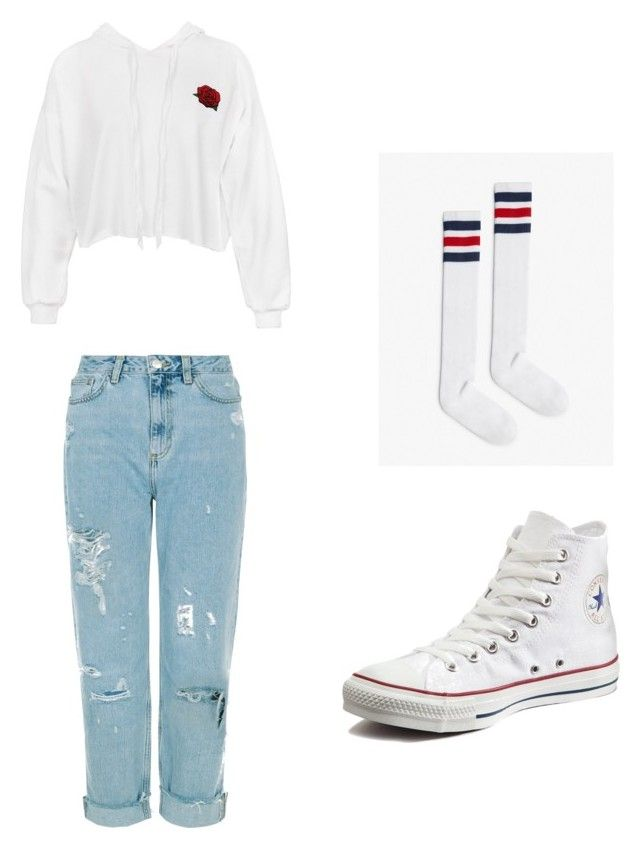 Sporty mom by kyrarosie on Polyvore featuring polyvore, fashion, style, Sans Souci, Converse and clothing