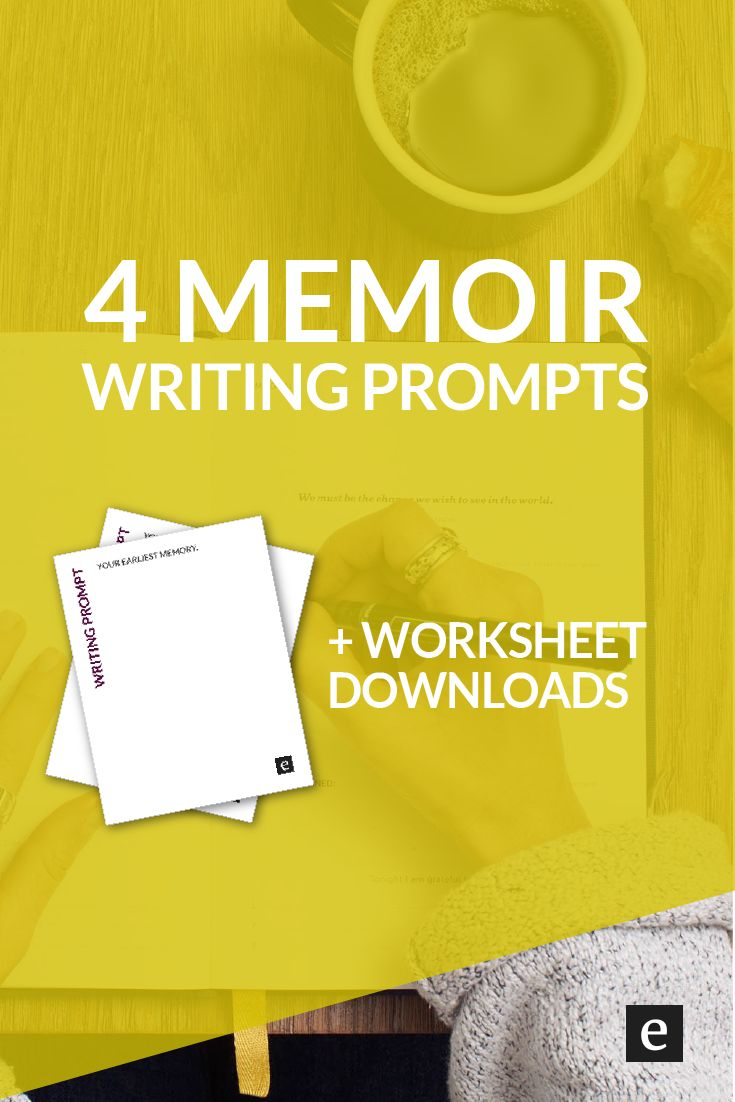 4 Memoir Writing Prompts | Want to get a start on your story? Click through for 4 memoir writing prompts (and free worksheet downloads).