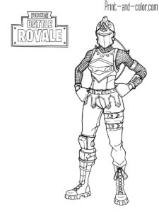 Fortnite Battle Royale Coloring Page Red Knight Female L