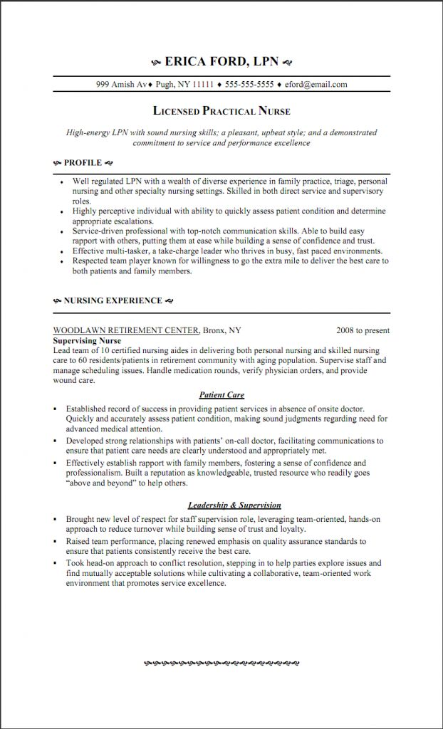 triage nurse resume sample
