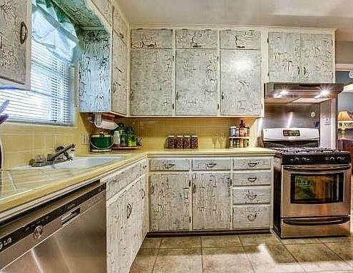 How To Paint Over Crackle Paint On Kitchen Cabinets