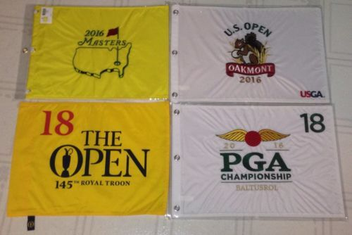 Golf 428: 2016 Masters U.S. British Open Pga Golf Flag Lot Of 4 Flags New -> BUY IT NOW ONLY: $156.6 on eBay!