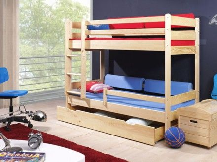 Dětská patrová postel woody borovice