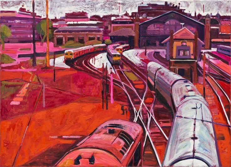 Osgyányi Sára: A Nyugati felett  2014 olaj-vászon 80x100