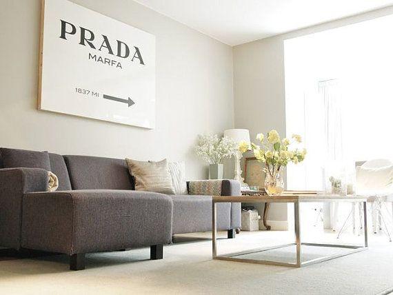 "Extra große Prada Marfa Poster druckbare Datei-27 ""x 40"" / 70 x 100 cm - Mode, Mode-Poster, Wohnheim Zimmer Kunst, Gossip Girl"