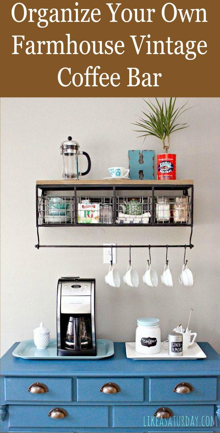 Organize your own Farmhouse Vintage Coffee Bar
