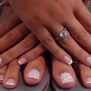 Свадебный маникюр и педикюр в приложение Лак и ногти ... #wedding #weddings