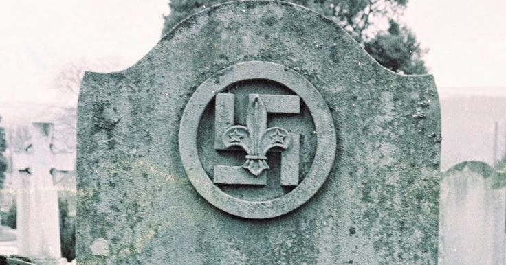 I found this swastika headstone in Gareloch Cemetery, Scotland. From memory, this symbol, appearing above the inscription of Mary C Browne w...