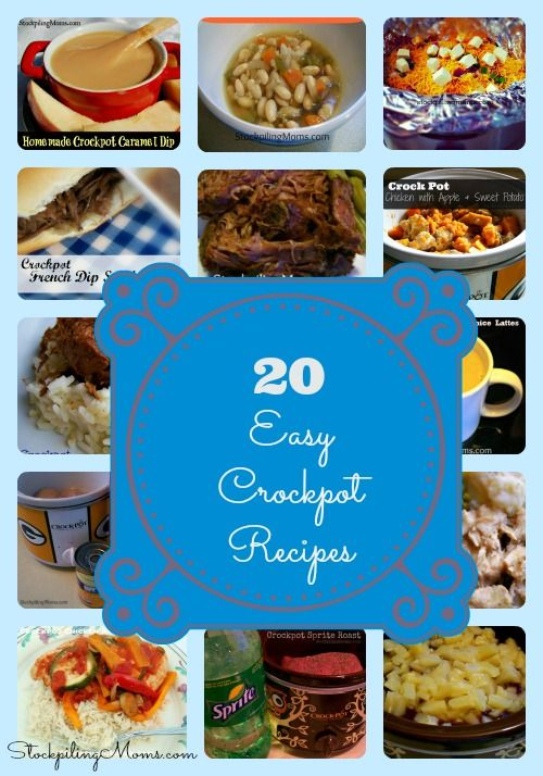 I haven't tested these or looked at the ingredients but who doesn't love crockpot food? --20 Easy Crockpot Recipes Collage