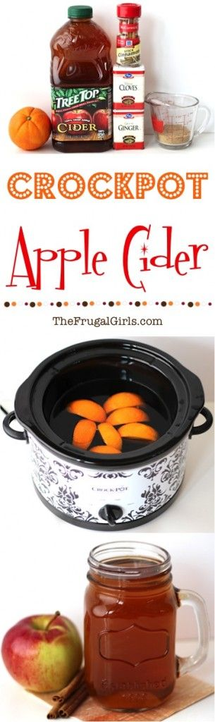 Crockpot Apple Cider Recipe - from TheFrugalGirls.com