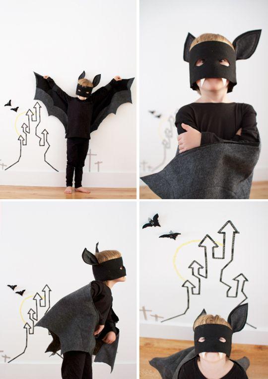 Halloween: disfraz murciélago diy