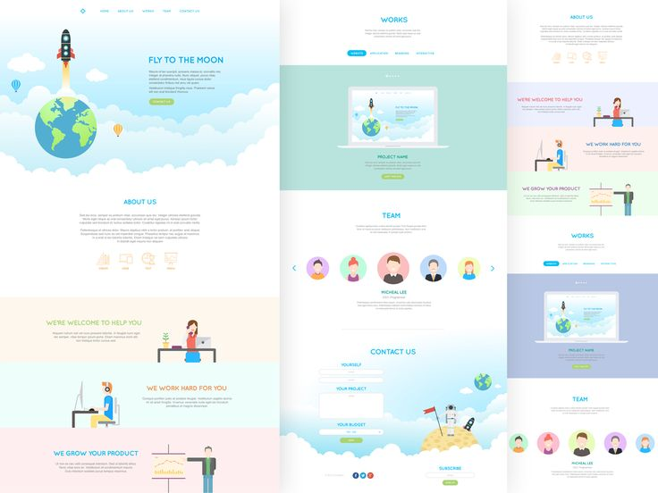 Jai - Flat One Page PSD Template by tintins on Creative Market