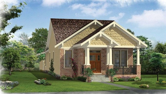 Craftsman House Plan with 1136 Square Feet and 2 Bedrooms from Dream Home Source   House Plan Code DHSW076614