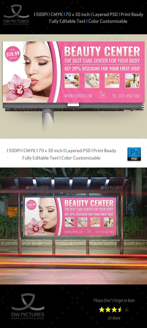 Beauty Center Billboard Template