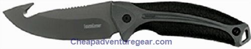 This modern hunting knife is built to stand up to your most rigorous hunts. It offers a big curved belly and a gut hook for easy skinning. With its thumb recess and heavy mid-spine jumping this knif...