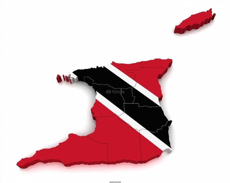 Poster of 3D Map of Trinidad and Tobago, World Map Poster, #poster, #printmeposter, #mousepad, #tshirt