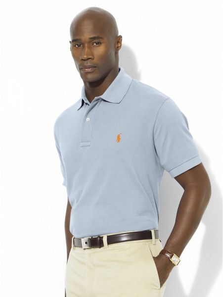 Polo Ralph Lauren Classic-fit Mesh Polo in Blue for Men (Fall Blue)