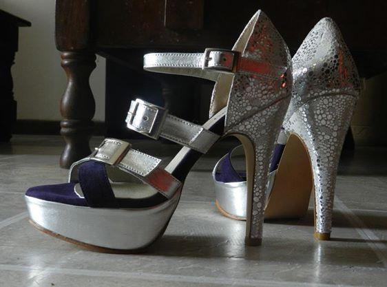 MarF Zapatos - Modelo Bellaggio en Violeta y Plata