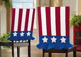 Uncle Sam 4th Of July Decor Fabric Chair Covers......add a holiday atmosphere!