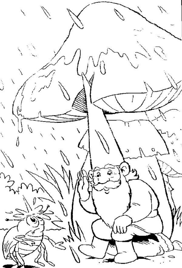coloring page David the Gnome Kids-n-Fun