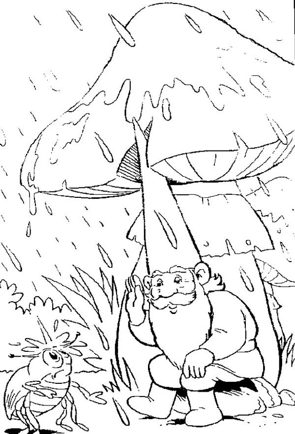 coloring page David the Gnome Kids-n-Fun