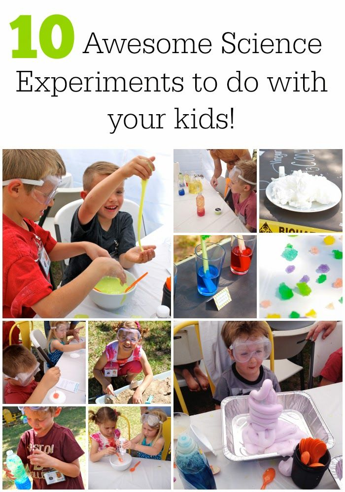 10 great science activities to do with the kids!