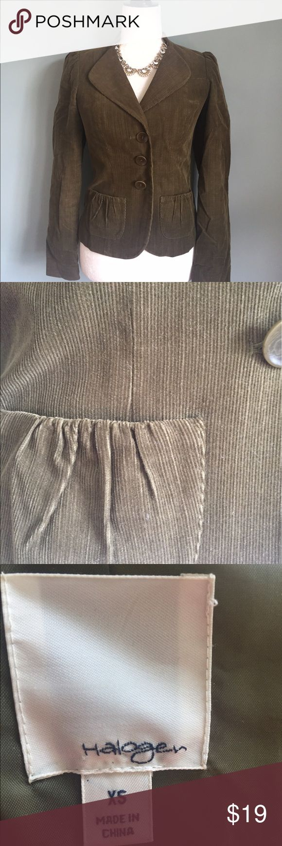 Olive green corduroy blazer Olive green blazer Halogen Jackets & Coats Blazers